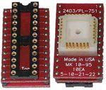 24 Pin Emulator DIP socket to male 28 pin PLCC plug adapter.