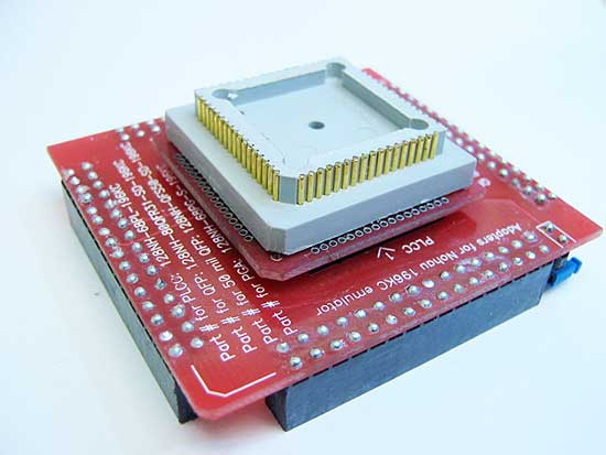 68 Pin PGA to 64 TQFP pads. Commonly used by Nohau (ICE Technology) in-circuit emulators to connect the in-circuit pod to 80C196KC or KD microcontroller <b> 68 pin PLCC socket